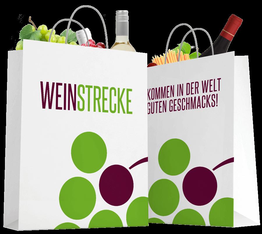 Einkaufstasche von Weinstrecke